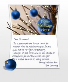 Static Christmas eCards for Business: Tree Balls Blue
