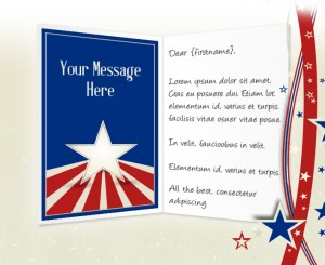 4th July eCards for Business: Stars and Stripes