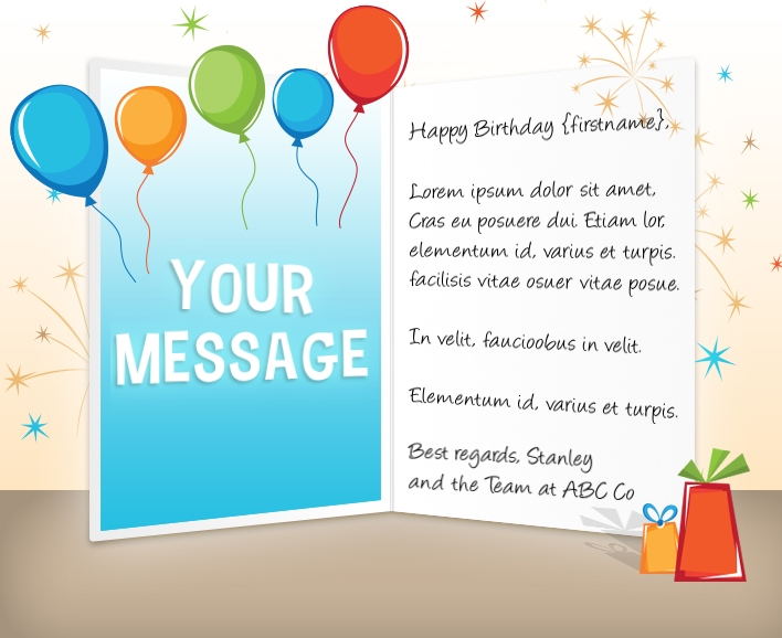 Static Company Birthday eCards eCards for Business: Birthday Gift