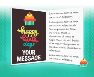 Static Company Birthday eCards eCards for Business: Cupcake