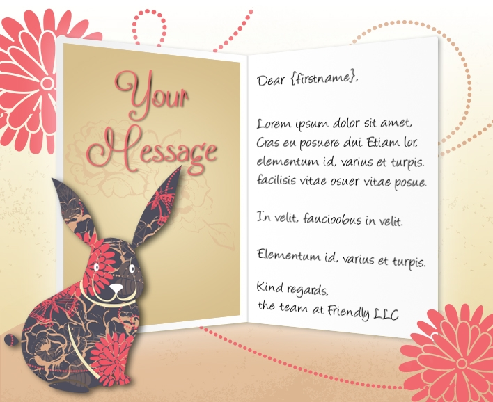 Easter eCards for Business: Easter Rabbit