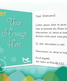 Easter eCards for Business: Easter Birds