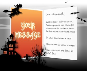 Halloween eCards for Business: Witch On A Broom