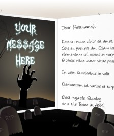 Halloween eCards for Business: Hand from the Grave