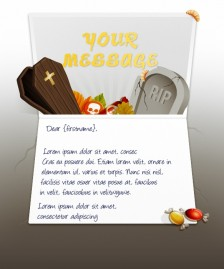 Halloween eCards for Business: Halloween Grave