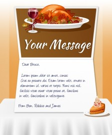 Thanksgiving eCards for Business: Turkey Dinner