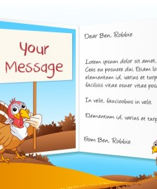 Thanksgiving eCards for Business: Turkey and Sign