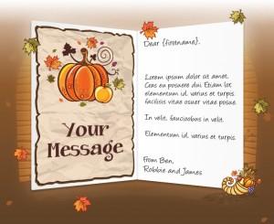 Thanksgiving eCards for Business: Pumpkin Cornucopia