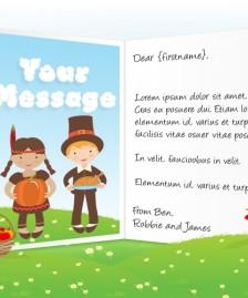 Thanksgiving eCards for Business: Pilgrims