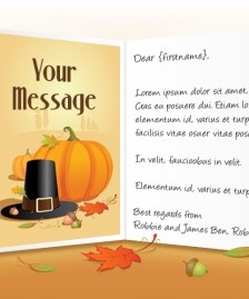 Thanksgiving eCards for Business: Pilgrims Hat