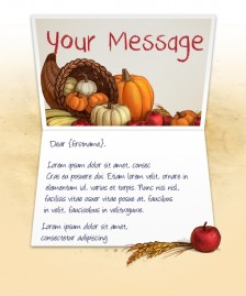 Thanksgiving eCards for Business: Cornucopia