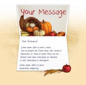 Thanksgiving eCards for Business: Cornucopia