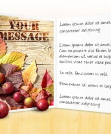 Thanksgiving eCards for Business: Apples and Leaves