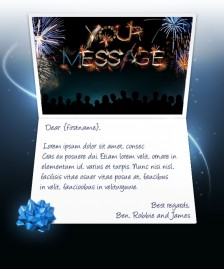 New Year eCards for Business: Fireworks