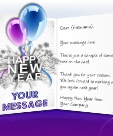 New Year eCards for Business: Balloons