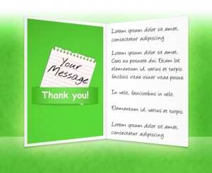 Thank You eCards for Business: Note Green