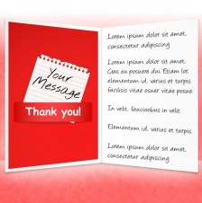 Thank You eCards for Business: Note Red