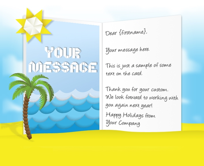 Thank You eCards for Business: Origami Beach