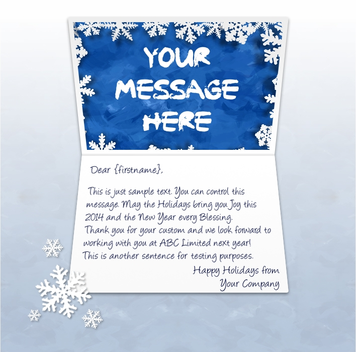 Static Christmas eCards for Business: Snowflakes EU