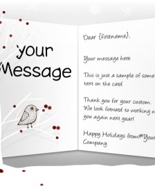 Static Christmas eCards for Business: Bird in Tree EU