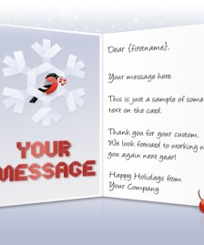 Static Christmas eCards for Business: Bird in Snowflake