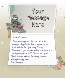 Company Christmas Cards eCards for Business: Owl and Bells EU