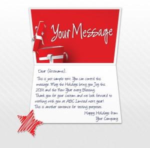 Static Christmas eCards for Business: Happy Holidays Gift EU