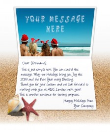 Static Christmas eCards for Business: People on Beach