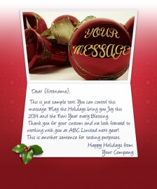 Static Christmas eCards for Business: Christmas Balls EU