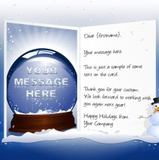 Static Christmas eCards for Business: Snow Dome