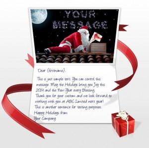 Static Christmas eCards for Business: Santa with Stars EU