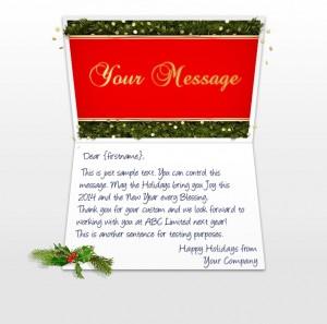 Company Christmas Cards eCards for Business: Confetti and Pine EU
