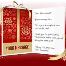 Static Christmas eCards for Business: Golden Gift EU