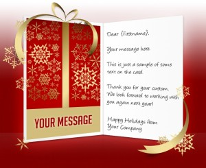 Static Christmas eCards for Business: Golden Gift EU