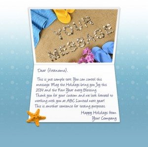 Static Christmas eCards for Business: Beach Time