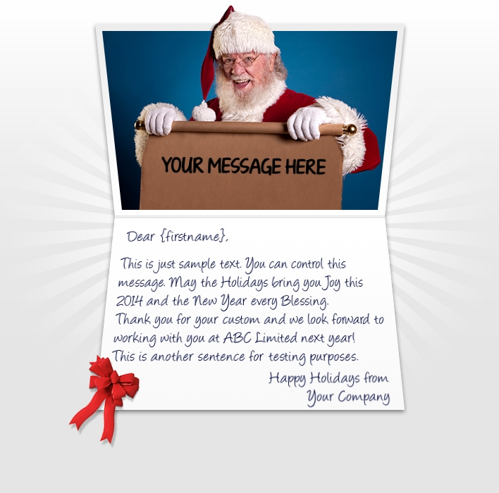 Static Christmas eCards for Business: Santa Scroll EU