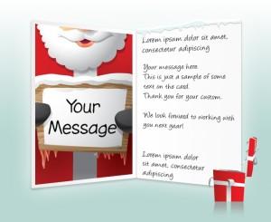 Static Christmas eCards for Business: Santa with Sign EU