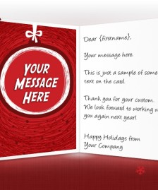 Static Christmas eCards for Business: Hand Drawn Bauble