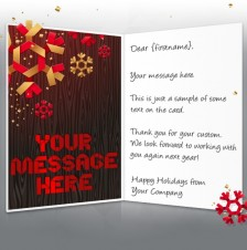 Static Christmas eCards for Business: Snowflakes and Wood