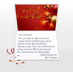 Static Christmas eCards for Business: Stars and Balls