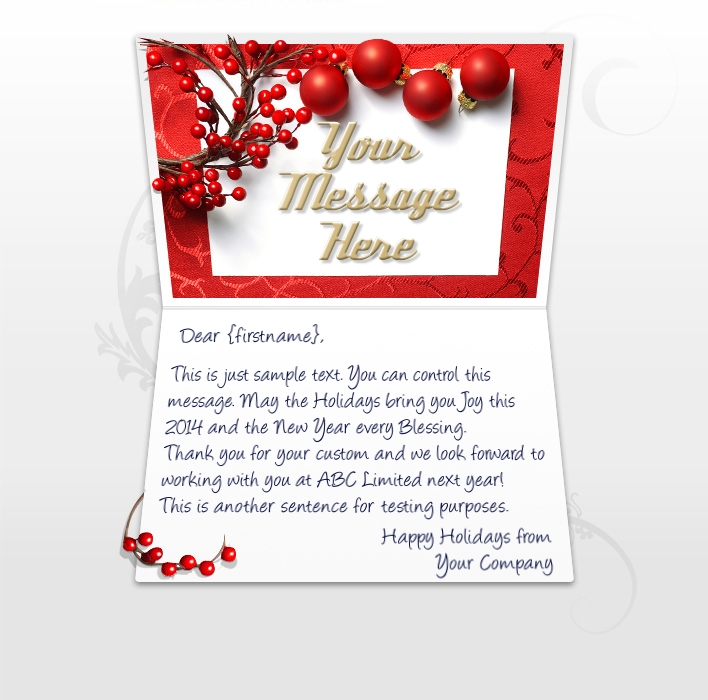 Company Christmas Cards eCards for Business: QA Berries