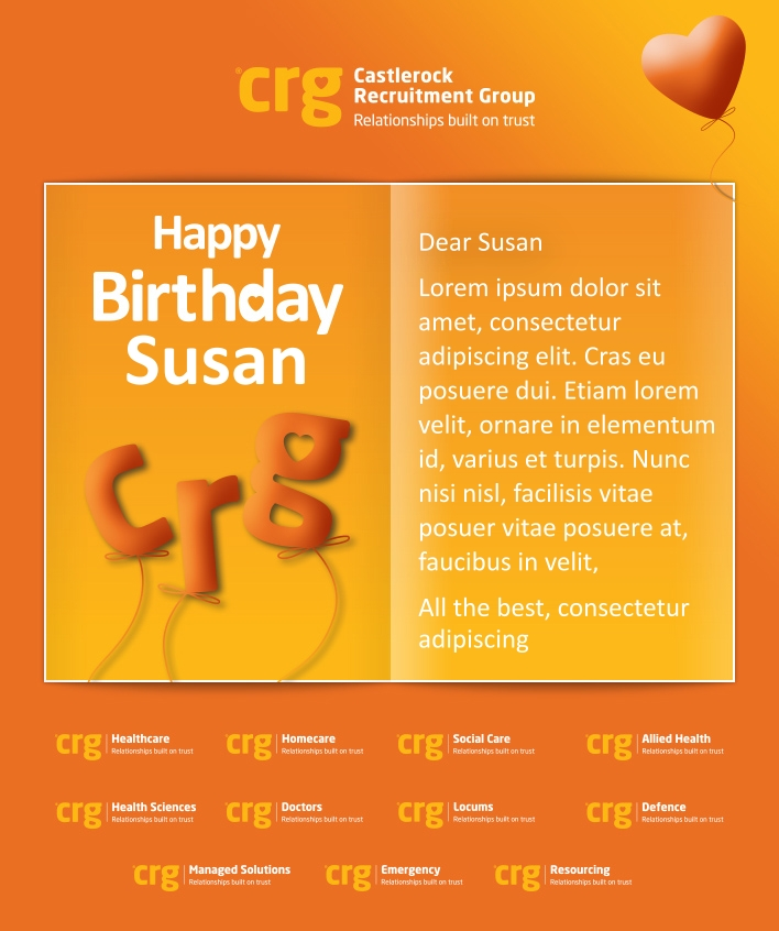 Custom Corporate Birthday eCards eCards for Business: CRG Birthday