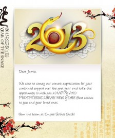 Chinese New Year eCards for Business: Golden Snake
