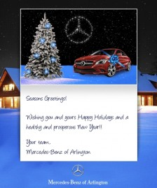 Holiday eCards Gallery Custom eCards for Business: Mercedes Arlington