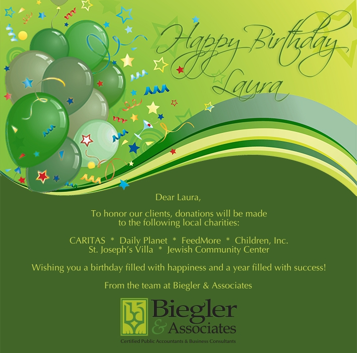 Custom Corporate Birthday eCards eCards for Business: BA Birthday
