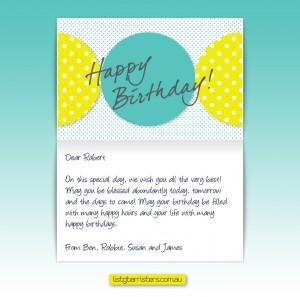 Custom Corporate Birthday eCards eCards for Business: ListG Birthday