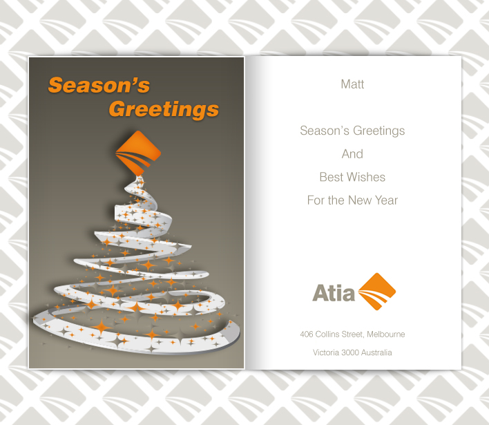Custom Holiday eCard eCards for Business: Atia Animated
