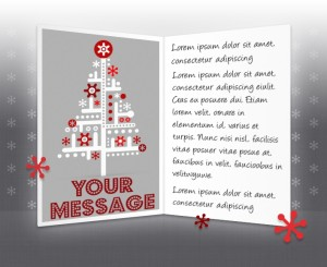 Static Christmas eCards for Business: Abstract Tree EU