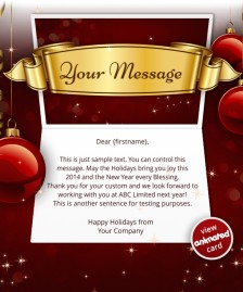 Interactive Christmas HTML5 eCard eCards for Business: Animated Banner Red