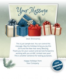 Interactive Christmas HTML5 eCard eCards for Business: Animated Presents